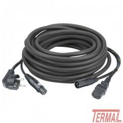 Kabel, FP08, Šuko-IEC XLR,10m Audio, DAP Audio