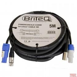 Kombiniran kabel, Powercon / xlr, 5m, Briteq
