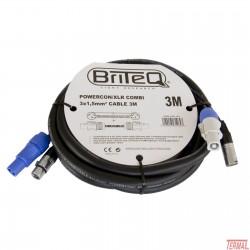 Kombiniran kabel, Powercon / xlr, 3m, Briteq