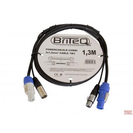 Kombiniran kabel, Powercon / xlr, 1.3m, Briteq