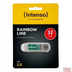 Intenso 32GB Rainbow Line USB 2.0, črn
