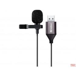 Sandberg, 126-19 Usb kravatni mikrofon