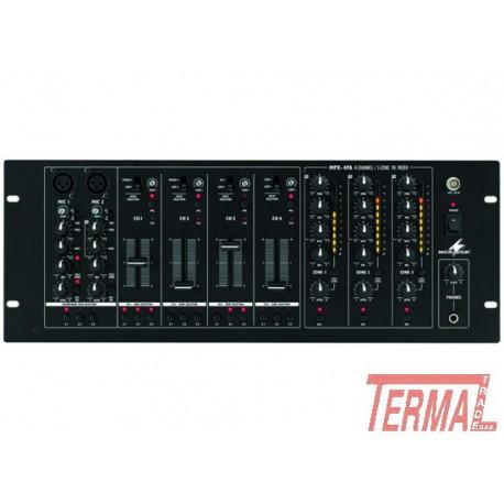 Zone mixer, MPX 4 PA, Monacor